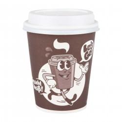 """Let´s Go"" 50 Kaffeebecher 200ml inkl. Deckel"
