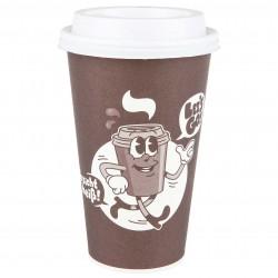 """Let´s Go!"" 50 Kaffeebecher 400ml inkl. Deckel"