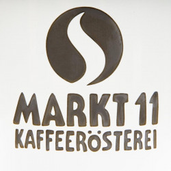 Markt 11 Emailletasse Druck - Kaffee Shop Markt 11