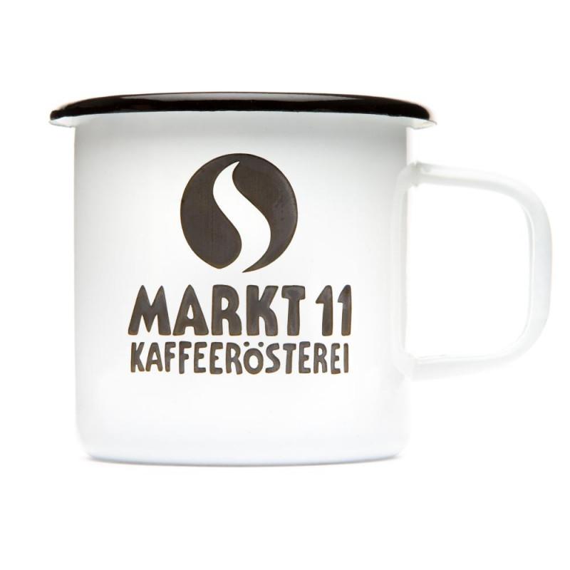 Markt 11 Emailletasse - Kaffee Shop Markt 11