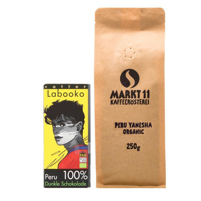 Zotter Peru + 250g Kaffee - Kaffee Shop Markt 11