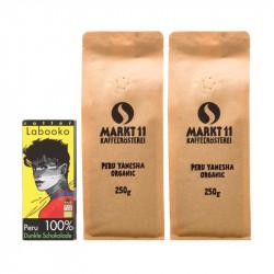 Zotter Schokolade Peru + 500g Kaffee - Kaffee Shop Markt 11