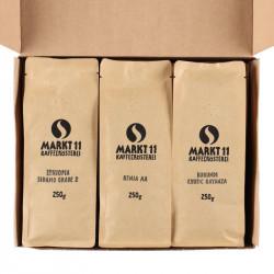 Geschenkbox Kaffee Afrika Paket geöffnet