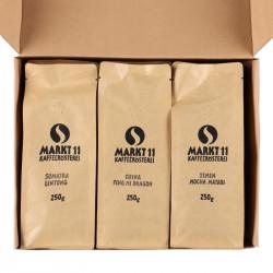 Geschenkbox Kaffee Asien - Paket geöffnet