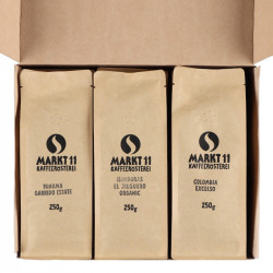Geschenkbox Kaffee Karibik - Paket geöffnet
