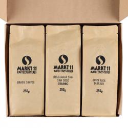 Geschenkbox Kaffee Amerika - Paket geöffnet