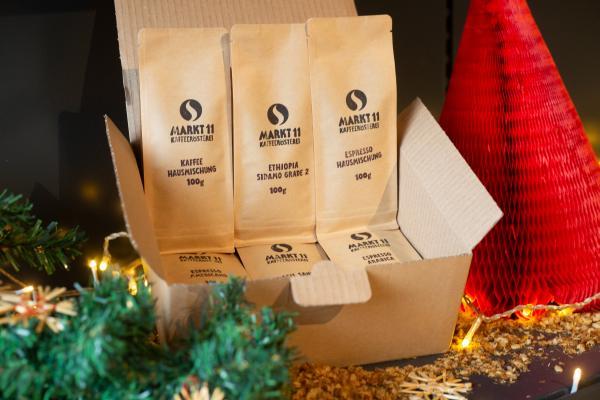 Probier unseren leckeren Kaffee und Espresso in der Markt 11 Probierbox